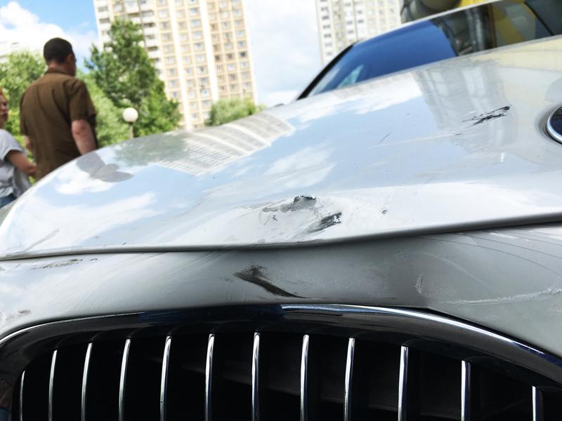 BMW 7 после аварии