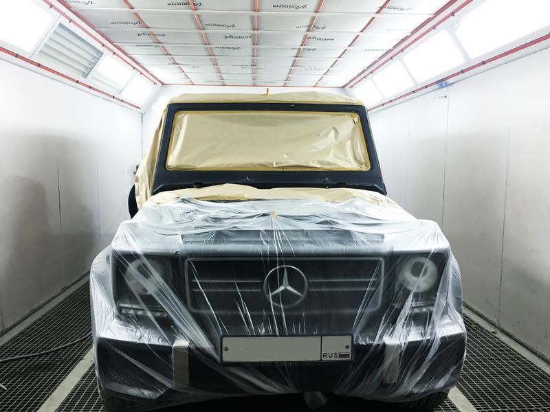 Кузовной ремонт Mercedes Gelandewagen