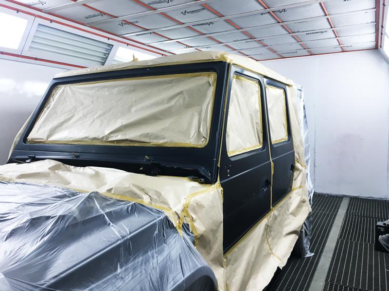 Покраска кузова Mercedes